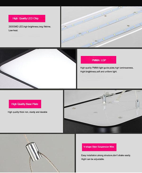 Easy Maintain LED Flat Panel Light Pendant Installation With 8 ~ 25m² Lighting Area 0