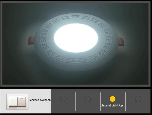 Double Color LED Round Panel Light 3014 SMD With -20C ~40C Operating Temperature