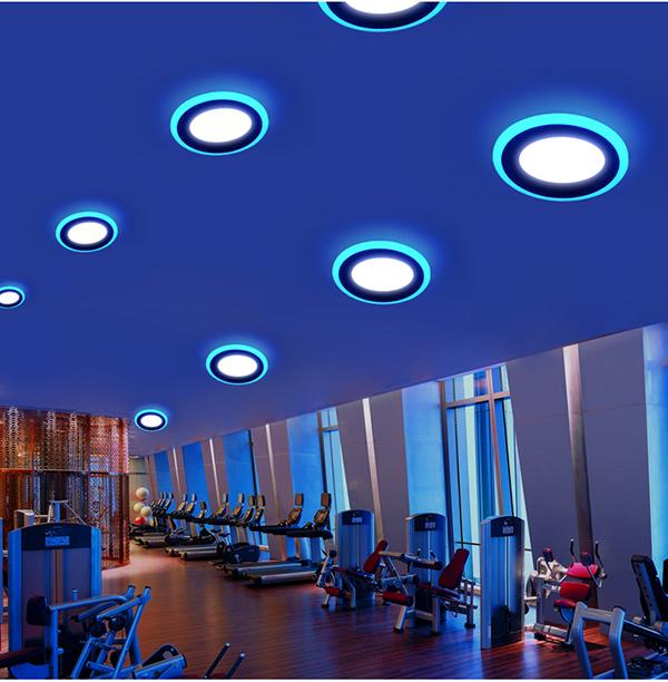 Double Color LED Recessed Panel Light 6
