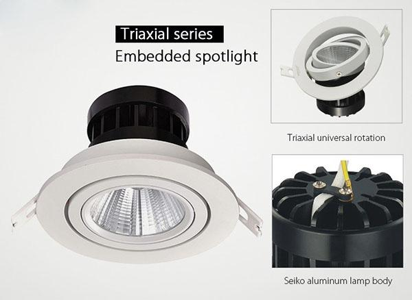 Anti Glare Adjustable LED Downlights High CRI , Recessed Lighting For Bathrooms