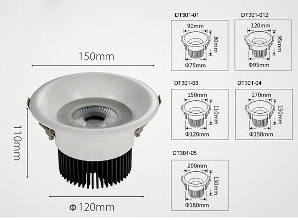 6w LED Downlight Cambered Surface , 3 Inch LED Recessed Lighting For Meeting Room