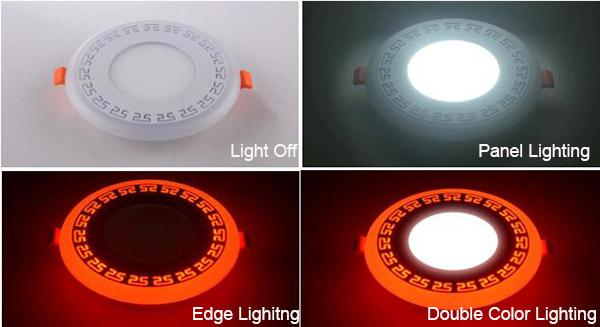 Double Color LED Recessed Panel Light 3