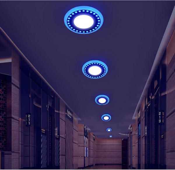 Double Color LED Recessed Panel Light 4