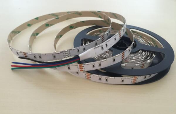 RGB 020 SMD 60pcs / Meters Side Emitting Flexible Strip Lights With DC12V