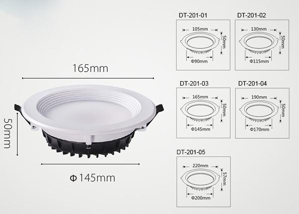 SAMSUNG All Size Recessed LED Downlight Anti Glare Dimmabl With Adjustable Beam Angle 0