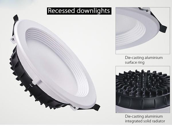 SAMSUNG All Size Recessed LED Downlight Anti Glare Dimmabl With Adjustable Beam Angle 2