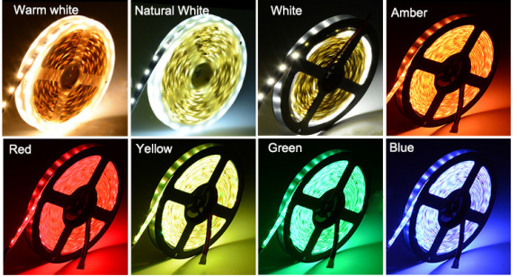 RGB + CCT 5in1 5050 60leds LED Strip Lights With Various Color