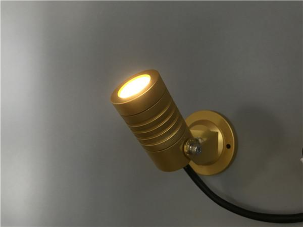 P5 High Power LED Landscape Spotlights , Outside LED Spotlights With Gold  Housing