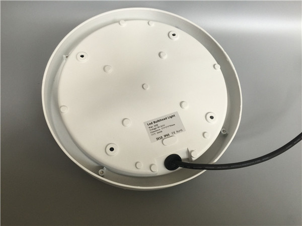 External LED Bulkhead Light White Housing Color With Aluminum + PC Material PF>0.9