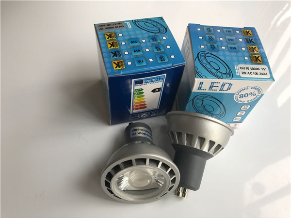 CREE COB LED GU10 LED Spotlight Bulbs , LED Home Light Bulbs Die Casting Aluminum Housing