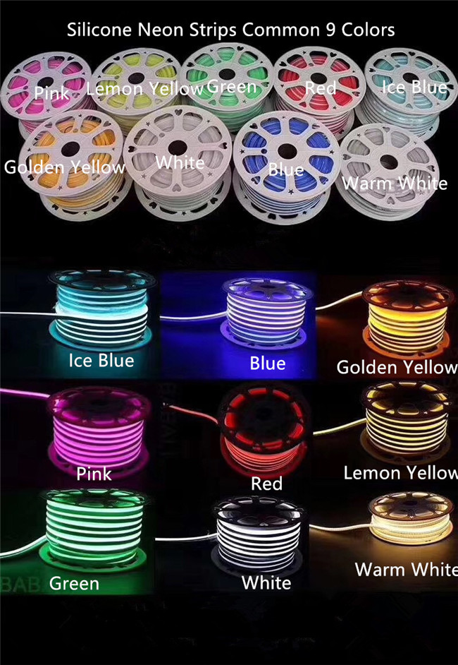 6 x 12MM 8 x 16MM Flexible LED Strip Light With 2.5CM Cutting IP67 / LED Neon Rope Light