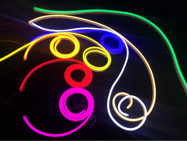 Energy Saving Flexible LED Neon Light With Pure Silicone Material 8.5W/M