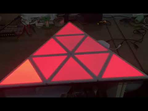 Home DIY Triangular Smart LED Panel Light Kit Connected With LED Chips