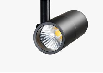China Aluminum Track Lighting 360°Rotatable , Black Ceiling Track Lights High CRI Ra>80 supplier