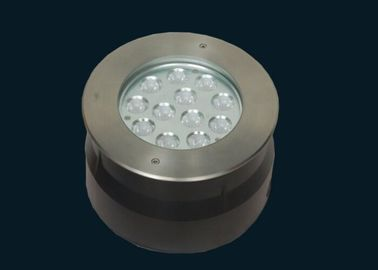 China Recessed LED Underwater Lights With PVC Sleeve 36W 304 Stainless Steel RGB supplier