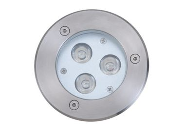 China High Power LED Underground Light 3W / 9W With 316 Stainless Steel Front Cover supplier