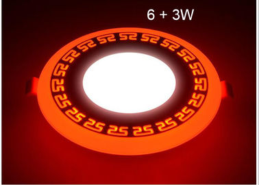 China LED Ceiling Lights For Homes , LED Recessed Ceiling Lights Double Color 6 + 3W supplier