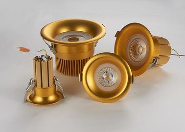 China Cambered Surface Recessed LED Downlight With Pure Gold Thread Welding Solid Radiator supplier
