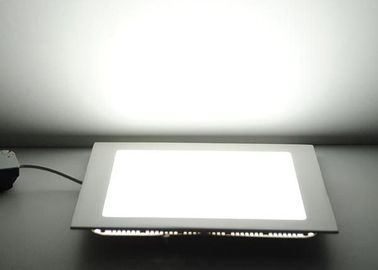 Ultra Thin LED Recessed Panel Light Square Shape With AC90V - 265V Ra > 80
