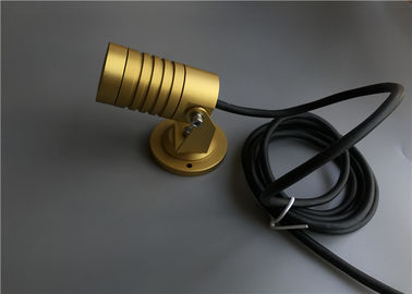 China P5 High Power LED Landscape Spotlights , Outside LED Spotlights With Gold Housing supplier