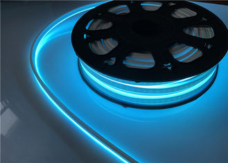 China IP67 12V / 24V Blue LED Strip Lights , 1M Cut Silicone Flexible Neon Rope Light supplier
