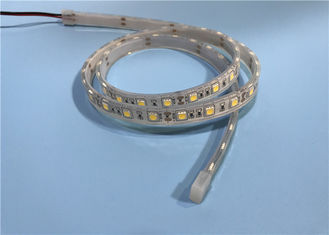 China SMD 5050 60leds 14.4W Warm White LED Strip , LED Wall Strip Lights For Aquarium supplier