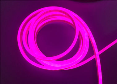China 12 / 24VDC Neon LED Strip Lights Pink Color With Silicone Extrusion supplier