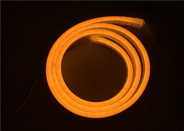China Golden Yellow Color Silicone LED Flexible Neon Strip Lights For Shopping Mall / KTV supplier