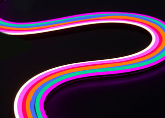 China Full Silicone Dome SMD LED Neon Flex Strip Light , Golden Yellow Pink Lemon Yellow supplier