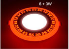 China LED Ceiling Lights For Homes , LED Recessed Ceiling Lights Double Color 6 + 3W factory