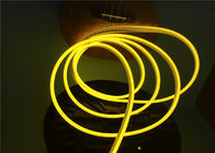 China No Dark Spot 6 x 12mm Flexible LED Strip Light / Silicone Neon Rope Light Lemon Yellow Color factory
