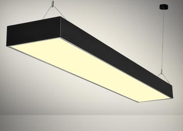 China Linear LED Flat Panel Light 48W 60W Black Housing Color Pendant Installation distributor